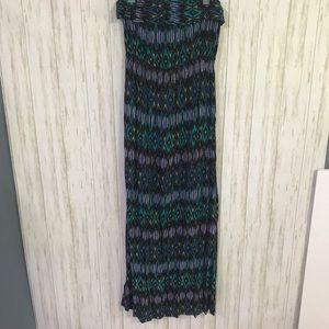 Geometric Strapless Maxi dress Large